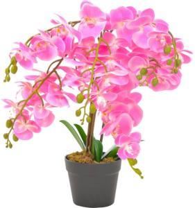vidaXL Kunstig orkidè med potte rosa 60 cm