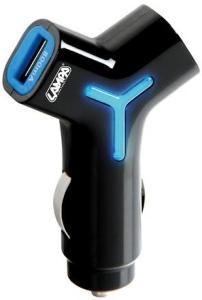 USB lader til bil. 2 uttak 800mA og 2100 mA