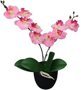 vidaXL Kunstig orkidè med potte 30 cm rosa