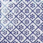 Flis Höganäs Pombalino Augusta Blank Blå/Hvit 15x15