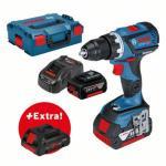 Bosch Bor-/skrumaskin for profesjonelle GSR 18V-60 C + 2 stk. 6 0 Ah batterier+ ProCORE18V 4.0Ah i L-BOXX
