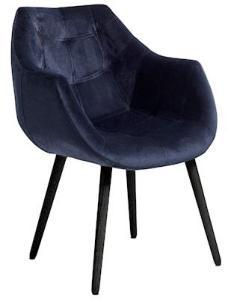 Nordal Dinner stol med armstøtte - Blå