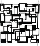 Europalms Room Divider Labyrinth black 4x