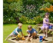 Plum Premium Træ Sandkasse og bænk