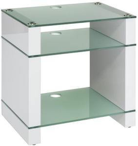 Blok Stax 600X Stereomøbel - White Gloss / Etched Glass