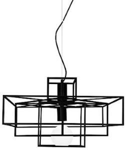Globen Lighting Pendel Cube Mattsvart