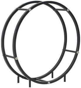 vidaXL Vedstativ svart 70x20x70 cm stål