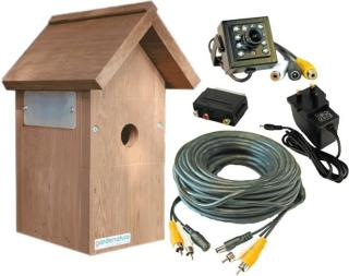 Fuglekasse kamera kit Farge HR kamerakit m/infrarød nattfunksjon