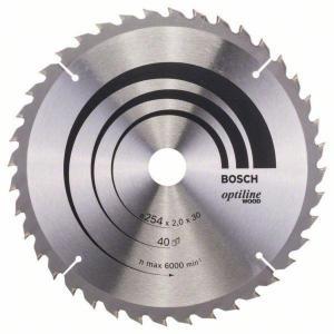 Sagblad for tre Bosch OPTILINE WOOD Ø254 mm
