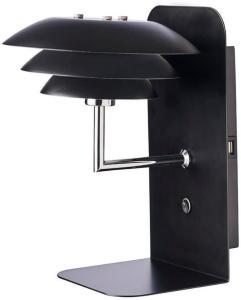DL20 USB Hylle inkl. Lampe Svart - DybergLarsen