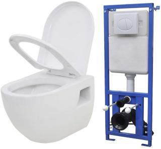 Be Basic Vegghengt toalett med skjult sisterne keramikk hvit -