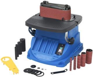 vidaXL Oscillerende spindel- og beltepusser 450 W blå