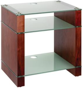 Blok Stax 600X Stereomøbel - Walnut / Etched Glass