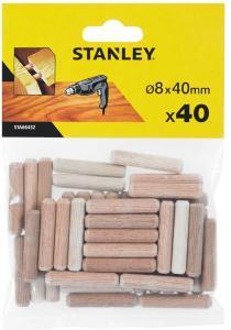 STANLEY treplugger runde 8x40 mm pakke a 40 stk