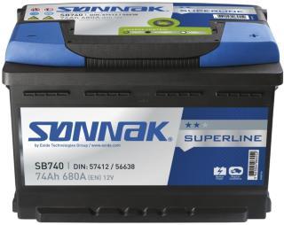 Sønnak Bilbatteri superline SB740