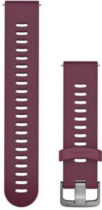 Garmin Hurtigutløsningsrem, bærfarget silikonrem med anordning i rustfritt stål 010-11251-1W, tilbehør til vivomove HR, vivoactive 3, Venu