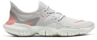 Nike Free Run 5.0 Womens Running Shoe 8.5 005/VAST GREY/PINK QUARTZ-PLATINUM TINT