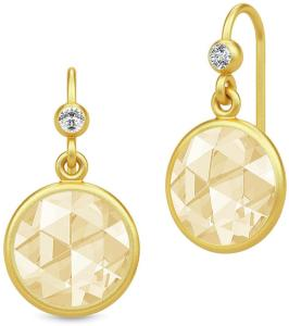 Julie Sandlau Cocktail Earrings - Gold//Lemon Øredobber Smykker Gul Julie Sandlau Women