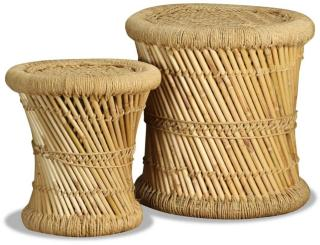 vidaXL Krakker 2 stk bambus og jute