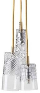 Ebb & Flow Edgar, bates, Sybil taklampe - Crystal, gold