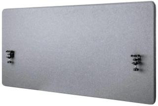 IIGLO ergo acoustic desktop privacypanel Gray, 120x60x2 cm, clamp bases, double sided tackable fabric (IIERGOAP016)