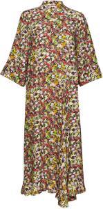 Peonykb Dress Knelang Kjole Multimønstret
