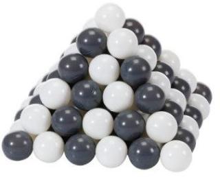 knorr® leker ballsett Ø 6 cm - 100 baller grå / krem