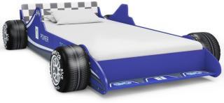 vidaXL Barneseng racerbil 90x200 cm blå