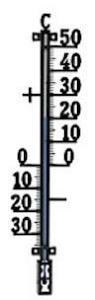 Termometerfabriken Utetermometer 44 cm 424 Plus Svart