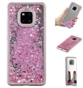 Liquid Glitter Series Huawei Mate 20 Pro TPU-deksel - Rosa