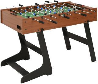 Sammenleggbart fotballbord 121x61x80 cm brun - Brun
