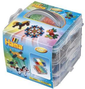 Hama, Liten oppbevaringseske med Midi perler 6000 stk