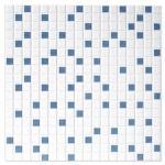 Flis Hill Ceramic Olympia Hvit-Blå Blank 20x20 , med mosaikk Mønstret cm
