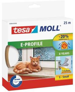Tesa E-list 05464-00100-00 Tetningstape EPDM, 25 m, 9 mm x 4 mm Hvit