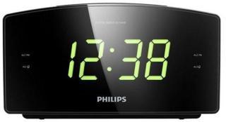 Philips Klokkeradio AJ3400 - FM - Mono - Svart AJ3400/12