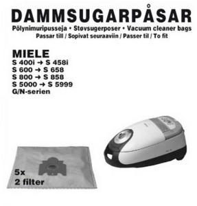 MIELE MGS 2412 STØVSUGERPOSE Power.no