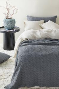 FREE sengeteppe - enkeltseng 180x260 cm Grå