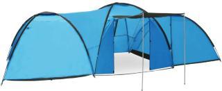 vidaXL Campingtelt igloformet 650x240x190 cm for 8 personer blå