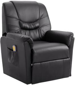 vidaXL Massasjestol grå kunstig skinn
