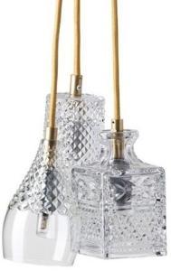 Ebb & Flow Henley, bates, jeeves taklampe - Crystal, gold
