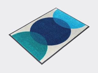 HEYMAT Spot Blue 60x85 Dørmatte
