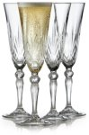 Lyngby Glass Champagne Melodia 16cl 4 stk krystall
