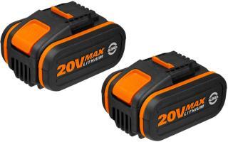 Worx 2 stk. WA3553 20V 4.0 Ah batteri