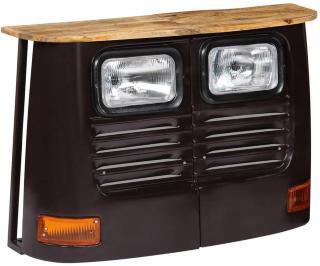 Skjenk lastebildesign heltre mango mørkegrå -