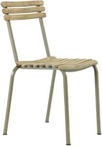 Ethimo Stabelbar stol Laren, 4-pk Unisex Grå / Teak