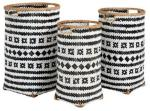 Nordal Baomboo kurver large svart/hvit - sett med 3