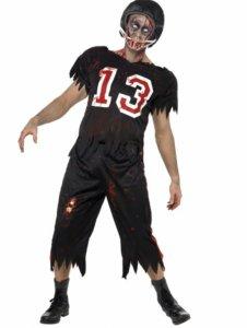 Amerikansk fotballspiller zombie kostyme