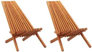 vidaXL Sammenleggbare stoler 2 stk heltre akasie