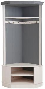 Runcorn Garderobe 90 cm - Hvit / Grå