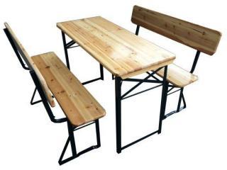 Sammenleggbar utebenk med bord til telt, eller hage 110x50cm